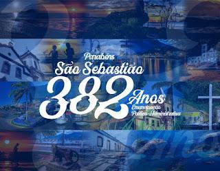 SITE FALA CARAGUÁ PARABÉNS SÃO SEBASTIÃO PELOS SEUS 382 ANOS