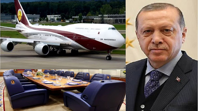 Erdogan's Luxury Aircraft Gift Qatar Aamer (Video)