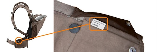 Stokke® MyCarrier serial number location