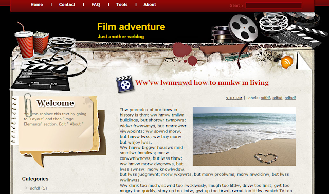 Film Theme Blogger Template