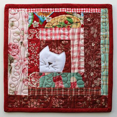 Patchworkpottery Kitty Potholder Pattern
