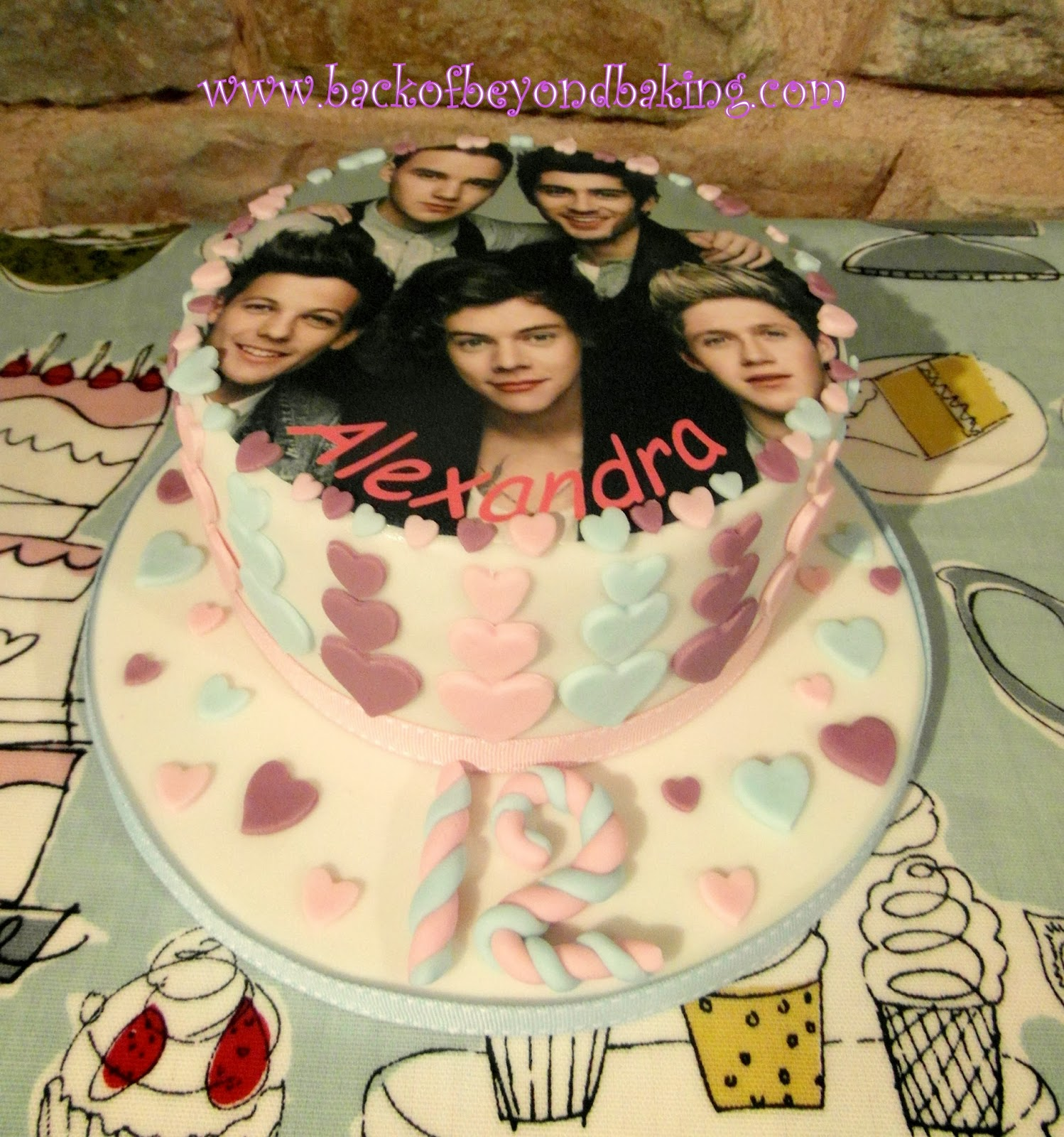 1D picture cake