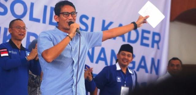 Sandi Ajak Calon Pemilih Kunjungi Prabowo-Sandi.Com