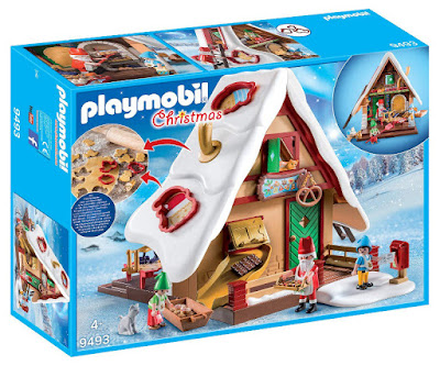 PLAYMOBIL Christmas 9493 Casa Panadería de Navidad con moldes para galletas Christmas Bakery with Cookie Cutters Producto Oficial 2018 | Edad: +4 años COMPRAR ESTE JUGUETE