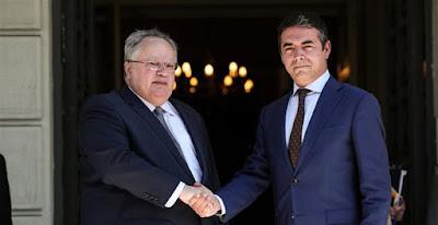 Προκαλούν οι Σκοπιανοί λίγο πριν τη συνάντηση Κοτζιά-Ντιμιτρόφ – «Η Ελλάδα πρέπει να στηρίξει τη «Μακεδονία»» – «Ξεχάστε ένταξη σε ΝΑΤΟ και ΕΕ χωρίς λύση στο όνομα» το μήνυμα Κοτζιά