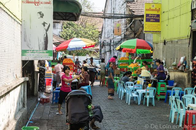 Marché de Bogyoke-Yangon-Myanmar-Birmanie