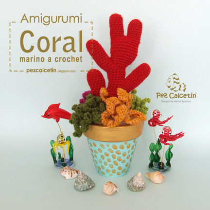 """pez calcetin"" ""coral marino"" ""crochet"" ""ganchillo"" ""handmade"" ""lana"" ""hygge"" ""amigurumi"""