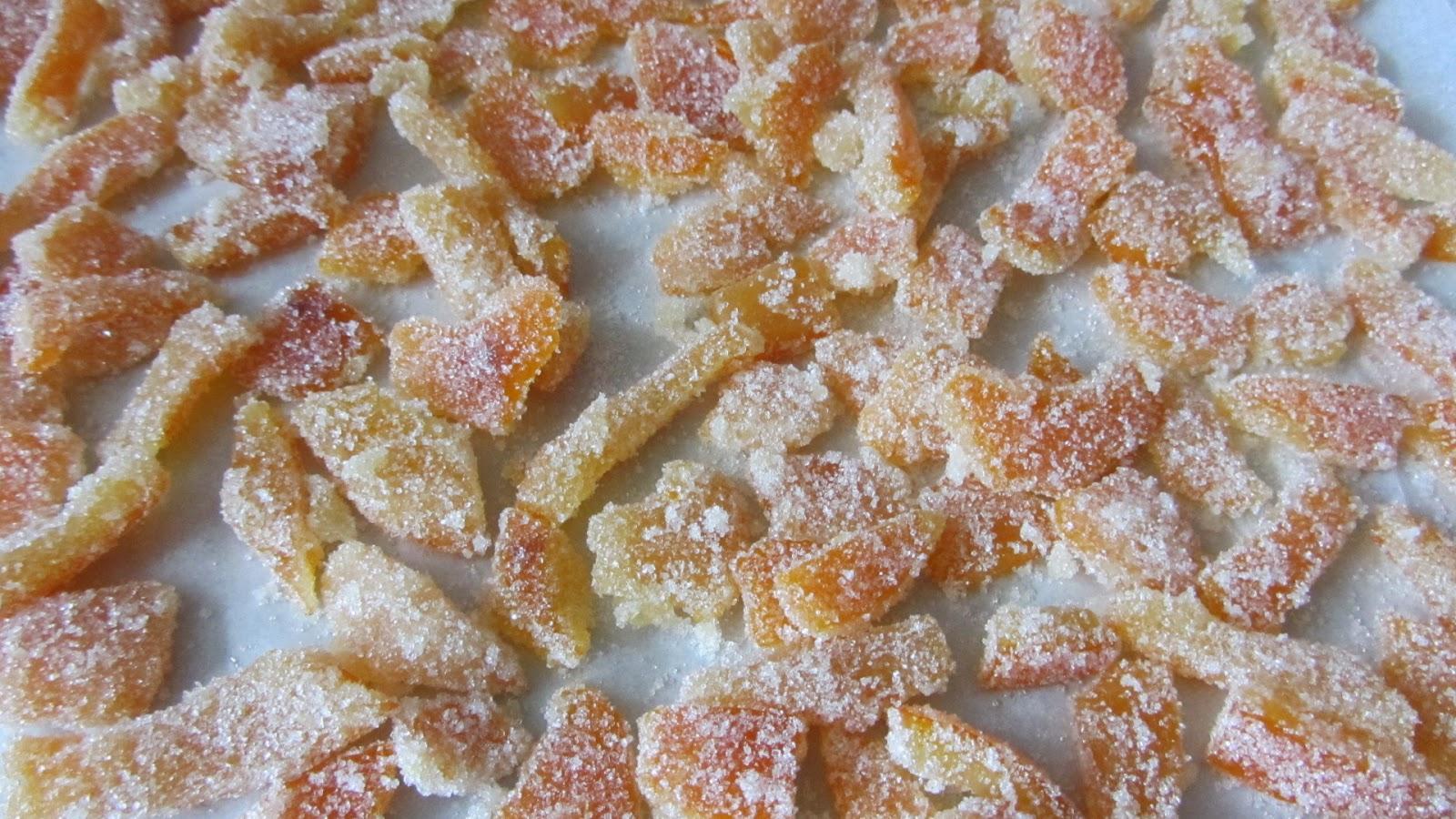 цукаты из апельсиновых корок засохли