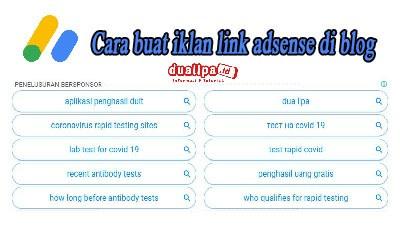 cara buat iklan link adsense di blog
