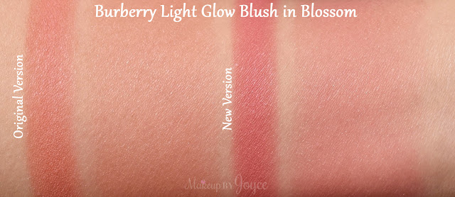 Burberry Beauty Light Glow Blush No.05 Blossom New Version Formula Swatch Swatches