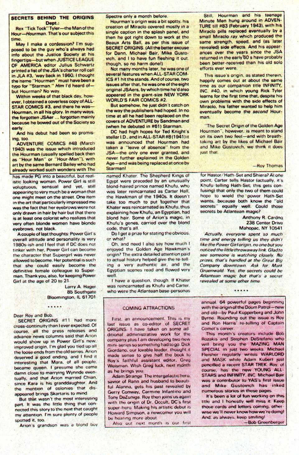 Read online Secret Origins (1986) comic -  Issue #16 - 21