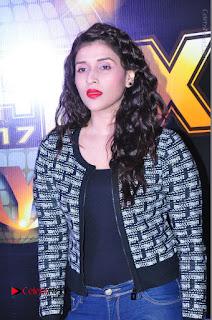 Actress Mannara Chopra Stills in Jeans at Sparx 2017 Curtain Raiser Event  0035.JPG