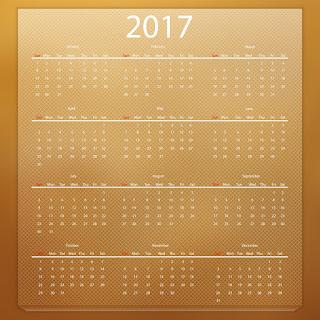 2017カレンダー無料テンプレート213