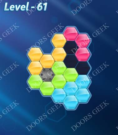 Block! Hexa Puzzle [Rainbow A] Level 61 Solution, Cheats, Walkthrough for android, iphone, ipad, ipod