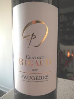 Château Rigaud 2012 - AP Faugères, Midi, France (88 pts)