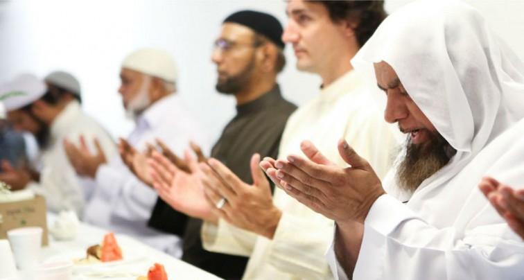 Justin Trudea souhaite un bonne fête de l'aïd el Fitr aux Musulmans.