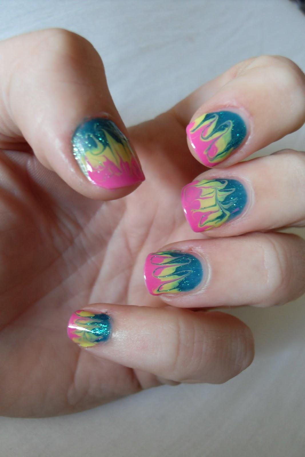 Oooooh Pretty: Tie Dye Nails!