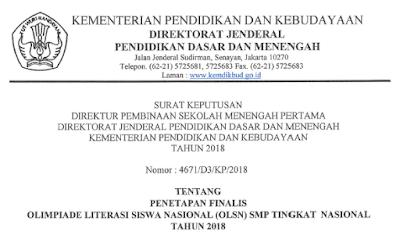 Final OLSN SMP Tahun 2018