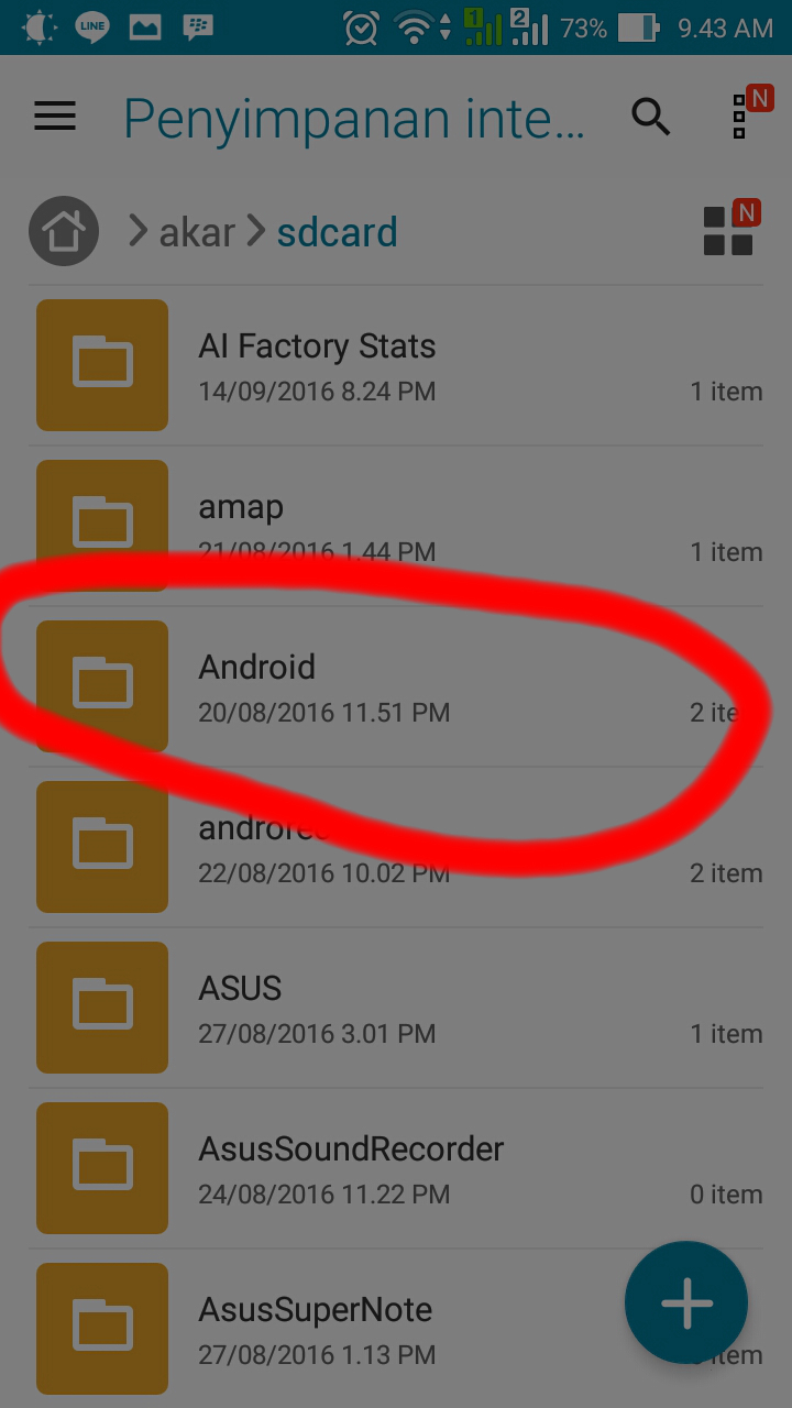 Android obb Data