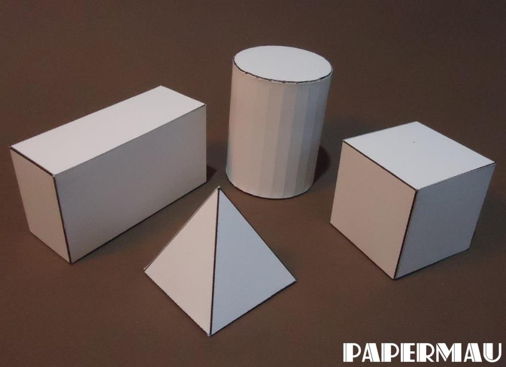 papermau four basic geometric forms papercraft for kids. Black Bedroom Furniture Sets. Home Design Ideas