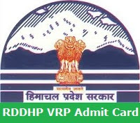 RDDHP VRP Admit Card