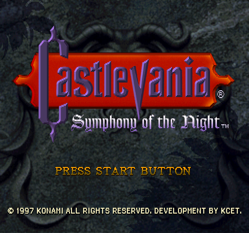 Castlevania Symphony of the Night title screen