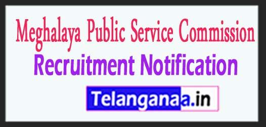 MPSC Meghalaya Public Service commission recruitment