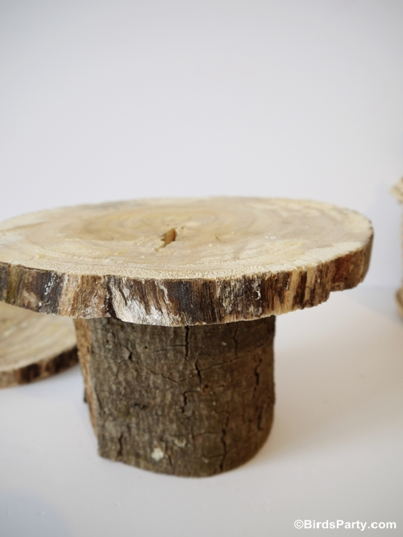 DIY Rustic Log Tree Stump Pedestal Cake Stand | Party Ideas | Party ...