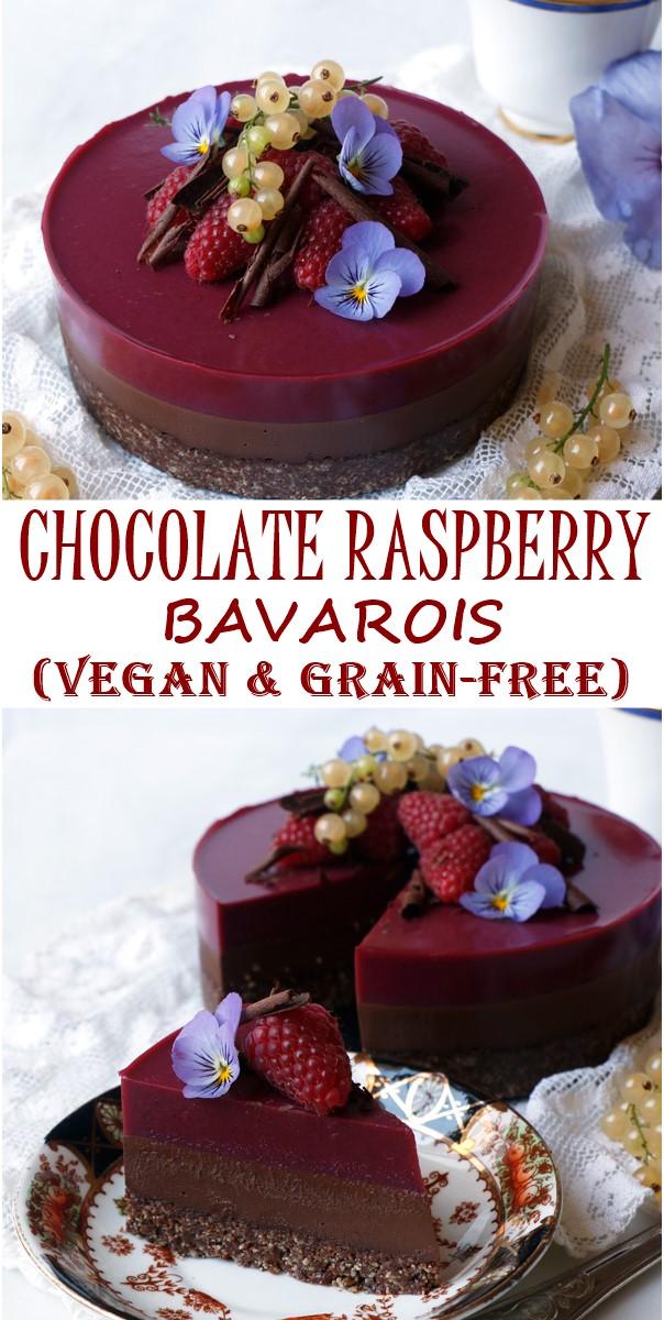 CHOCOLATE RASPBERRY BAVAROIS (VEGAN & GRAIN-FREE) #Cakerecipes