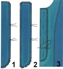 Выполнение потайных застежек на пуговицы