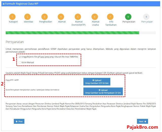 Cara Mengisi Formulir Persyaratan NPWP Online