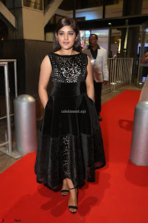 Niveda Thomas Black Sleeveless Cute Dress at 64th Jio Filmfare Awards South 2017 ~  Exclusive 105.JPG