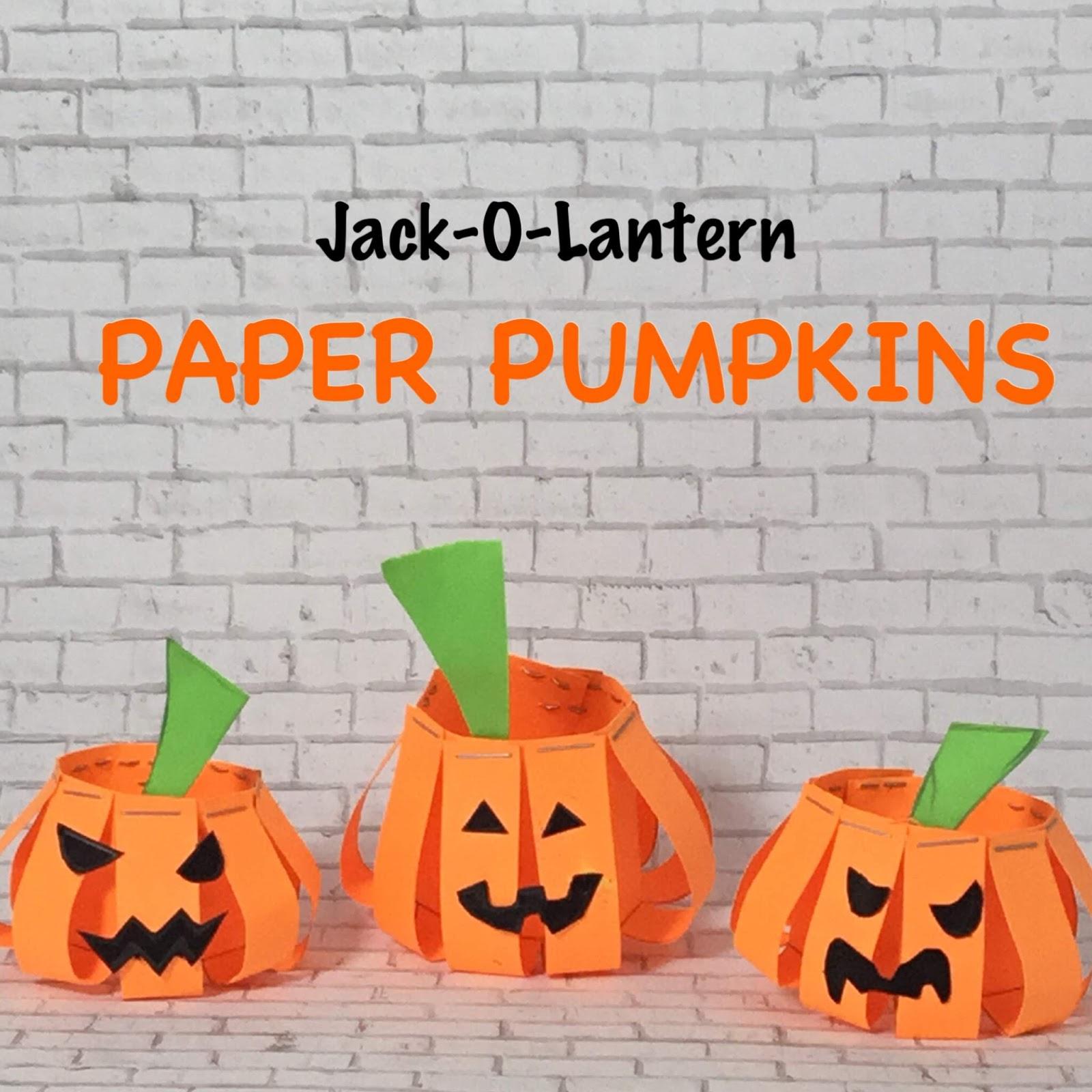 Jack-O-Lantern Paper Pumpkins