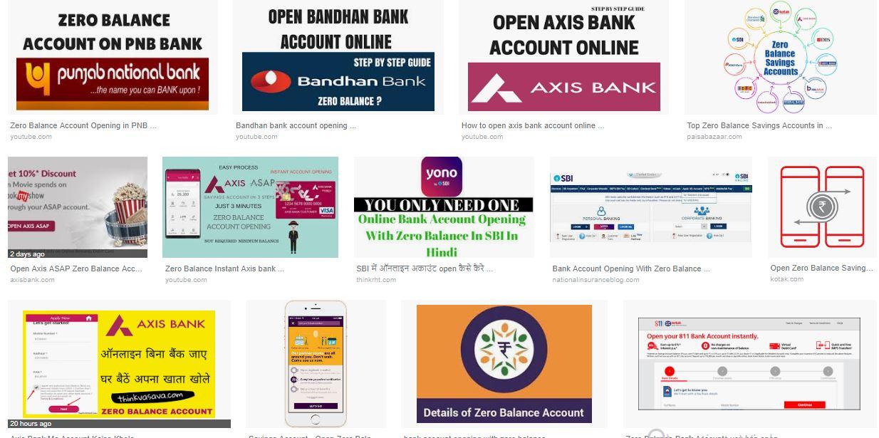 My Blog Online Bank Account Opening With Zero Balance