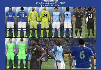 PES 2016 PES 2016 Everton+Man City Kits 2017 by YastRin