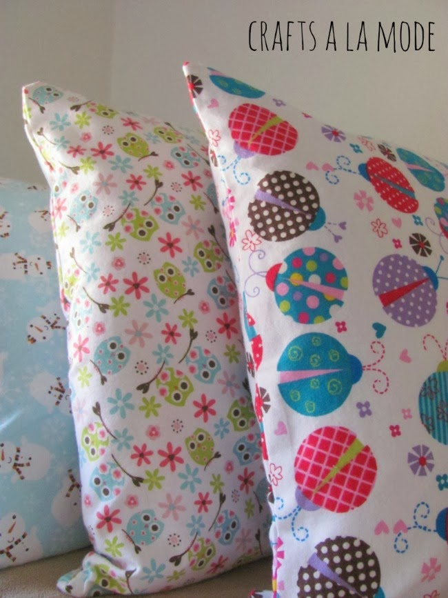 kids flannel pillowcase DIY homemade