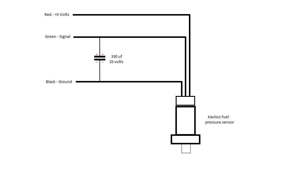 DOG Aviation John's RV12 Blog: Wiring Kavlico Fuel Pressure Sensor & Capacitor Modification