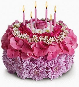 Cake And Candles What A Perfect Combination For Birthday Gift Except This One Is No Ordinary Indeed Special Made Out Of Flowers