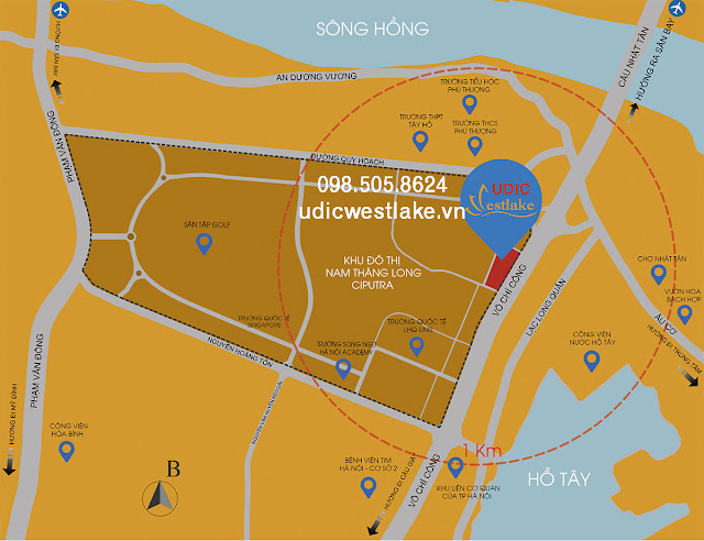 Vị trí vàng của dự án chung cư UDIC Westlake