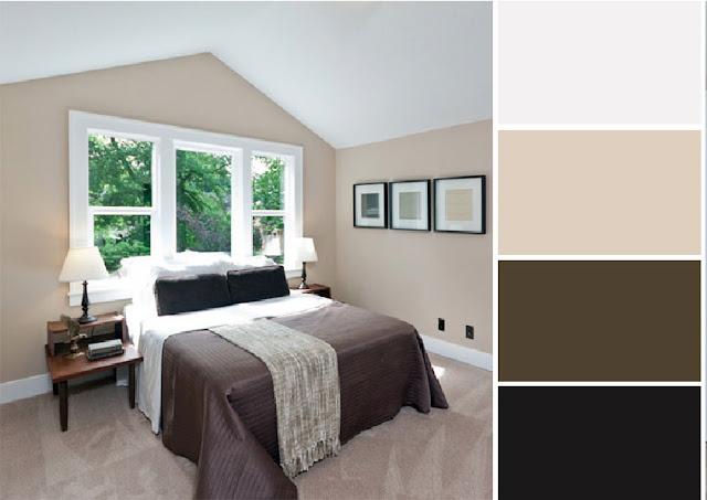 40 combinaciones de paletas de colores para dormitorios - Paleta de colores para paredes interiores ...