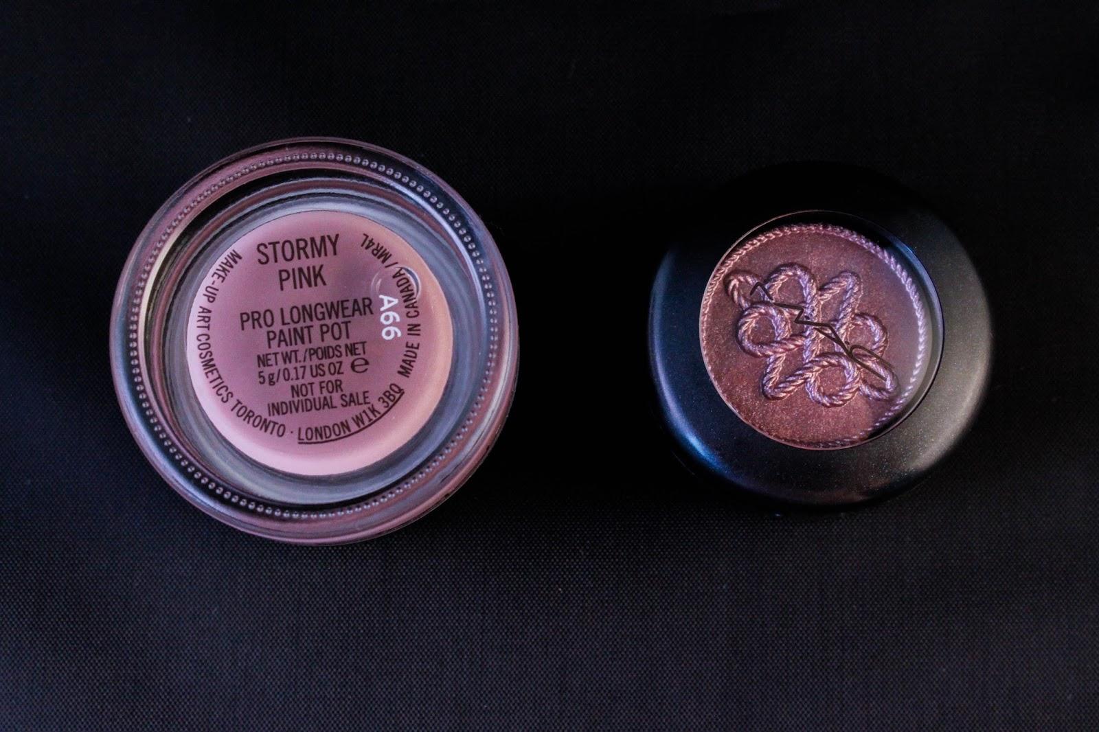 stormy pink smoky mauve MAC nutcracker sweet plum eye bag christmas 2016 noel paint pot eyeshadow technakhol mascara purple