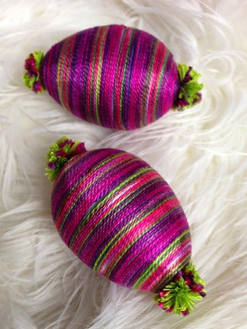 iLoveToCreate Blog: Striped Pom Pom Eggs
