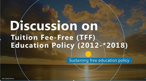 key point on Tuition Fee Free Education Policy