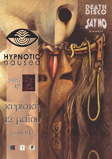 Hypnotic Nausea, God in a Cone, live @ death disco, poster