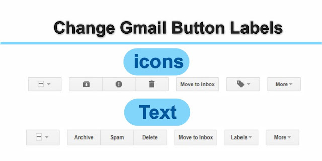 Change Gmail button Labels icons