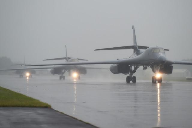 USAF B-1B Lancers arrive UK