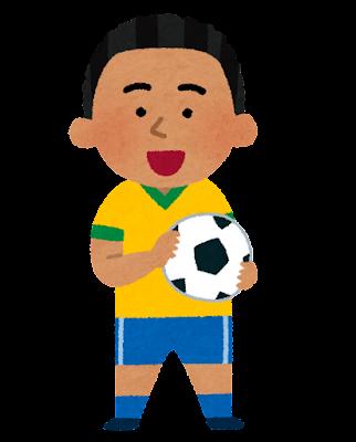 ブラジルのサッカー少年のイラスト