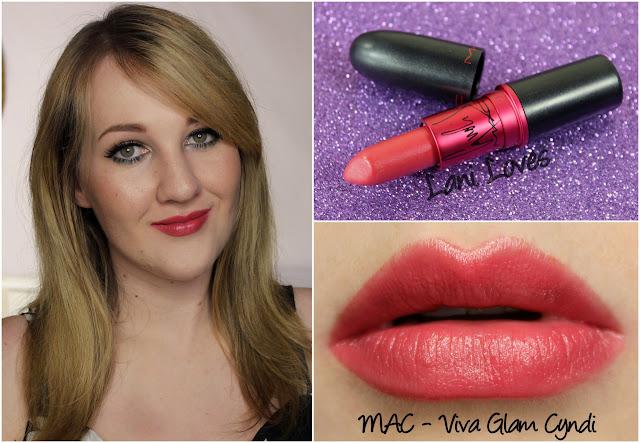 MAC Viva Glam Cyndi lipstick swatch