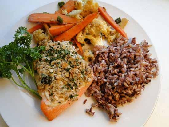 Crusty pepper salmon recipe