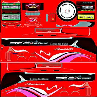 Download Livery Bus Almasar SR2 XHD Prime